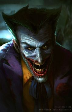 My all time favorite Villain. I like the animated batman version the best. It's what I grew up with and the voice is iconic. This is my take on the Animated Batman Joker. Comic Book Characters, Comic Character, Comic Books Art, Comic Art, Le Joker Batman, Joker Y Harley Quinn, Black Batman, Joker Comic, Gotham Batman