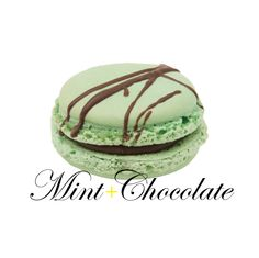 Real mint leaves go into the making of this delicious treat! Mint and chocolate macaron! #yannpins