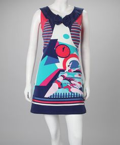Take a look at this Navy Harlow Dress - Women by Rosalita McGee on #zulily today!