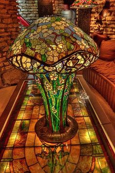 Inside House on the Rock, outside Spring Green, Wisconsin. Tiffany lamp.