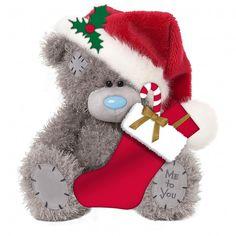 "Me to You Large 20"" Holding Stocking Plush Christmas Bear - CharacterWise"