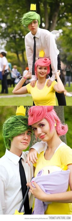 Cosmo and Wanda  I love the idea, but the eyes freak me out!