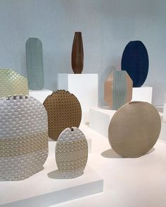 Sculptural vases from Hélène Morbu on the @maisonetobjet fair in Paris – a…