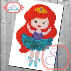 BALLERINA 5 Applique Design For Machine by SewEmbroidable on Etsy