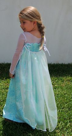 Elsie Elsa Inspired Princess Dress with by LambandIvyCouture