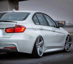 BMW F30 3 series white on Vossen wheels