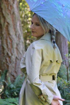 Check this sexy blonde in her Rubber Rainwear! Rubber Catsuit, Rain Cape, Rubber Raincoats, Vintage Magazines, Rain Wear, Get Dressed, Rain Jacket, Windbreaker, Women Wear