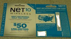 2 NET 10 SIM cards for 99 cents man this is a great deal!