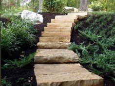 landscape stoane steps - back bank