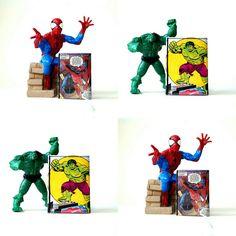💥💣🔥Marvel superheroe power💥💣🔥: Spiderman wallet and Hulk wallet comic upcycling one of a kind handmade in Berlin!!!