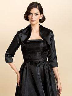 3/4 Sleeve Satin Wedding Evening Jackets (More Colors Available) Bolero Shrug - USD $17.99 ! HOT Product! A hot product at an incredible low price is now on sale! Come check it out along with other items like this. Get great discounts, earn Rewards and much more each time you shop with us!