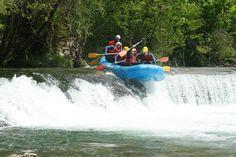 Desnivel en el Rafting! Río Sella!