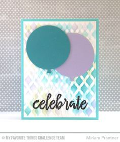 Brushstroke Birthday, Blueprints 26 Die-namics, Fishnet Stencil - Miriam Prantner  #mftstamps
