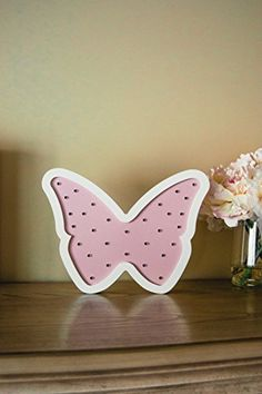Carolines Treasures Letter P Flowers and Butterflies Pink Ceramic Night Light 6x4 Multicolor