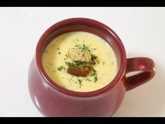 Como Fazer Sopa cremosa de Batata - YouTube Caldo Detox, Cheeseburger Chowder, Food Videos, Recipes, 30, Sauces, Youtube, Sweet Potato Soup, Recipes With Sweet Potatoes