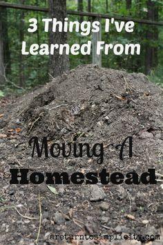 Moving a Homestead | areturntosimplicity.com #moving #homestead