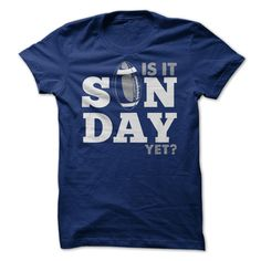 Is it Sunday yet? - Football shirt. See the full collection of shirts for men and women here: https://www.sunfrog.com/dmh0226/funny-shirts