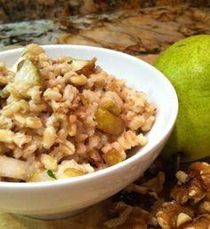 Balancing Cinderella Recipes: Pear and Walnut Pearled Barley