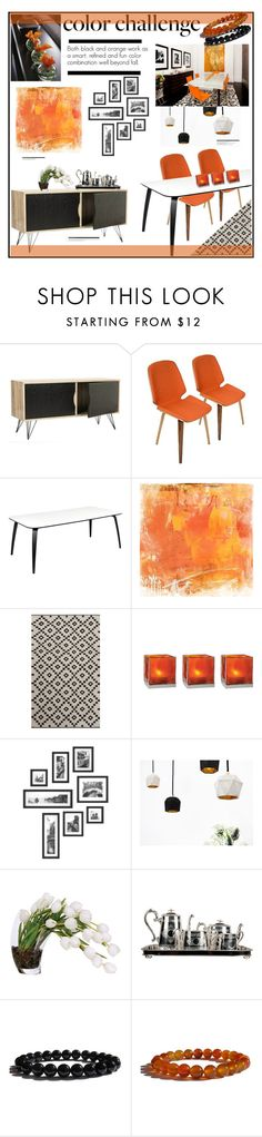 """""""Color Challenge: Orange and Black"""" by zenstore ❤ liked on Polyvore featuring interior, interiors, interior design, home, home decor, interior decorating, LumiSource, Home Decorators Collection, NOVICA and Cultural Intrigue"""