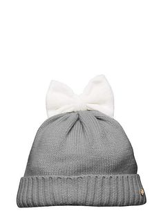 kate spade bow beanie | DIY to get grey/black bow or black/grey bow