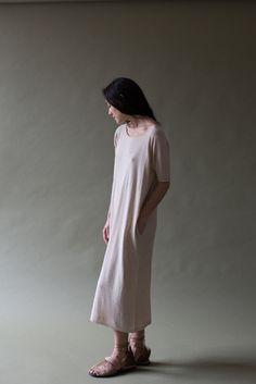 Lauren Manoogian Tall T Dress in Natural | Oroboro Store