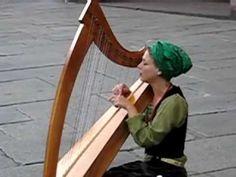 Beautiful music: Yasmeen Amina Olya (http://www.yasmeensong.com) plays the harp and sings. Heavenly!