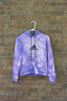 Upcycled ADIDAS Hoodie Purple Bleach by littleraisinvintage, $14.00