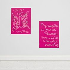 Chalkboard Pink Decals (Set of 2)  | The Land of Nod