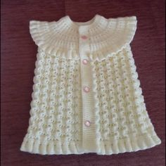 This Pin was discovered by Hül Diy Crafts Dress, Diy Dress, Baby Boy Knitting Patterns, Baby Patterns, Embroidery Neck Designs, Moda Emo, Baby Vest, Vest Pattern, Crochet Patterns For Beginners