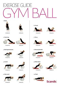 best results I ever got for my abs and butt were these exercises on an exercise ball. Because you have to balance, it makes you use muscles you didn't even know you had!