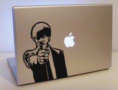 I'm guessing that by now, most of you have seen this awesome Iron Man Mac laptop decal. Macbook Pro Decal, Macbook Stickers, Laptop Decal, Apple Laptop Stickers, Mac Stickers, Pulp Fiction, Laptop Accessories, Decals, Creative
