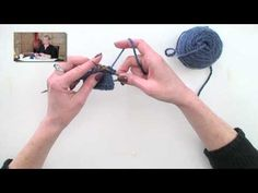 Flicking, a quick way to knit and purl