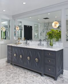kitchen cabinet ideas photos glam powder room boasts a floating vanity fitted with 18946