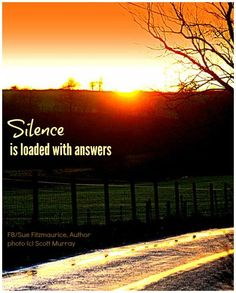 Silence is loaded with answers ☼