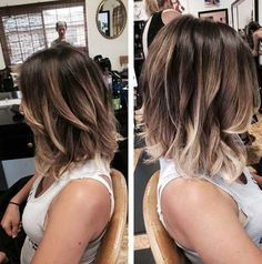 Tendance Coupe & Coiffure Femme Description Wavy Lob Hairstyle – Balyage highlights for a long bob, 2016 Hair Color Medium Hair Styles, Short Hair Styles, Hair Medium, Medium Cut, Bob Styles, Medium Long, Hair Color And Cut, Colour Melt Hair, Bob Hairstyles