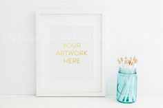 White Frame Styled Stock Photography by SLFDesigns on Creative Market