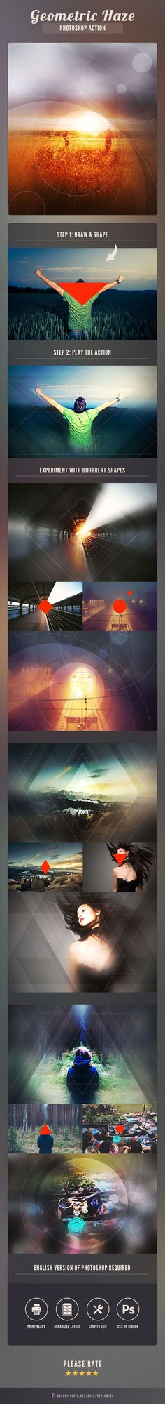 Geometric Haze Photoshop Action #geometric #geometric action #geometry action #geometry effect #modern #$6