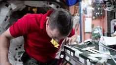 Ever wondered how astronauts eat pudding in space?  Jack Fischer, from aboard the ISS, demonstrates how.