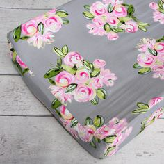 Our Vintage Floral changing pad cover adds a little trendiness to your little one's nursery.