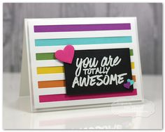 Taylored Expressions - Share Joy Challenge: Sketch + Clean & Simple: You are Totally Awesome by Jen Shults. #handmade #cardmaking #challenge #creative #diecutting #sharejoy