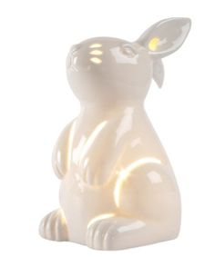Mothercare Ceramic Lamp- Rabbit. An adorable and elegant rabbit-shaped lamp to add a warm glow to your little one's room.