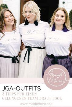 JGA Outfits - Stilvoll statt peinlich Bridesmaid Dresses, Wedding Dresses, Tulle, Wedding Inspiration, Skirts, Outfits, Fashion, Bachelorette Scavenger Hunt, Maid Of Honor Responsibilities
