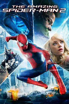 Movie: The Amazing Spider-Man 2 - For Peter Parker, life is busy. Between taking out the bad guys as Spider-Man and spending time with the person he l. Man Movies, Movies To Watch, Good Movies, Movies 2014, Movies Free, Comic Movies, Family Movies, Latest Movies, Horror Movies