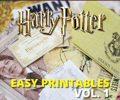 Harry Potter Printables Vol. 1
