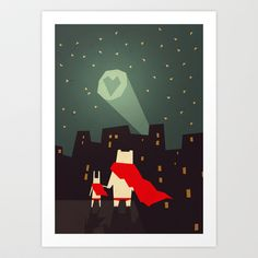 The city needs love Art Print by Yetiland - $18.00