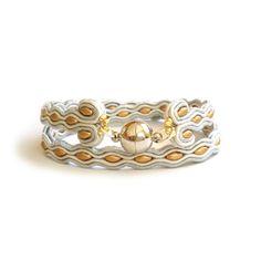 Wrap bracelet  soutache bracelet  Unisex bracelet  by SaboDesign