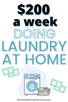 If you're wanting to work from home and trying to brainstorm a home business idea -- consider starting a laundry business at home. Instead of struggling to start it all on your own, this company helps laundry business entrepenuers get started. The average earnings are $800 a month -- but you could earn much more! #laundrybusinessideas #homebusinessideas Cash From Home, Make Money From Home, How To Make Money, Successful Business Tips, Starting Your Own Business, Business Ideas, Work From Home Companies, Work From Home Jobs, Laundry Business
