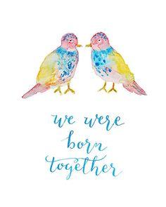 We Were Born Together -- Hand-drawn Calligraphy and Wat by Joannie Candi, via Behance