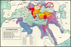 The Ottoman Empire during the Crimean War. Highlights one of the points of tension around 1900: between Russia and the Turks to the south. Also, note that France and particularly Britain intervened in what is now Egypt, and other parts of the middle east.