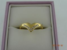 Gold Pre Loved 18ct Solid Yellow Gold 9Diamond Eternity Ring 2.4grms (eBay item 330744072594 end time 12-Jun-12 19:15:12 AEST) : Jewellery Watches